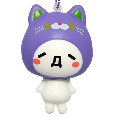 Purple Emoji Cat Squishy