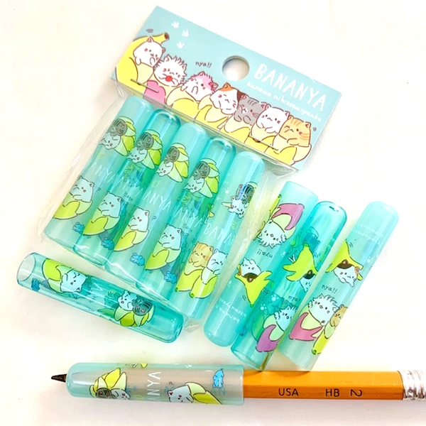 Q-LiA Bananya Blue Pencil Caps