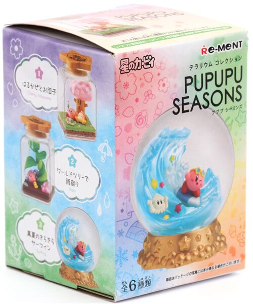 Re-Ment Kirby Dream Land Pupupu Seasons Terrarium Collectible Figure Blind Box