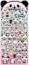 Panda Puffy Stickers in Choice of Style