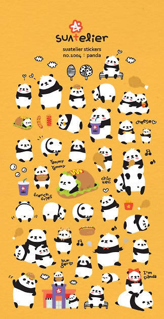 Suatelier Panda Puffy Stickers