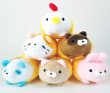 Tempura Plush Animals with Ball Chain