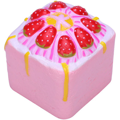 Vlampo Pink Strawberry Cupcake Cube Squishy