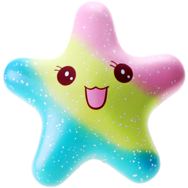 Vlampo Galaxy Rainbow Starfish Squishy