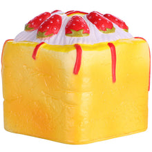 Vlampo Yellow Strawberry Cupcake Cube Squishy Side