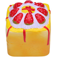 Vlampo Yellow Strawberry Cupcake Cube Squishy Top