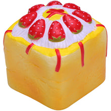 Vlampo Yellow Strawberry Cupcake Cube Squishy