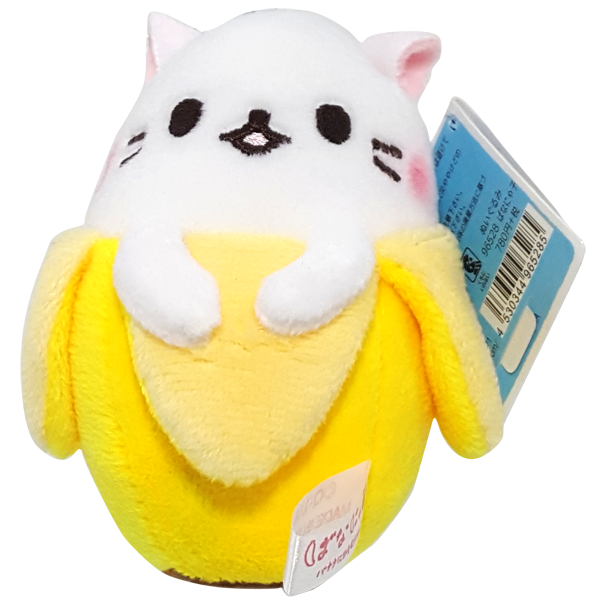 White Cat Bananya Plush