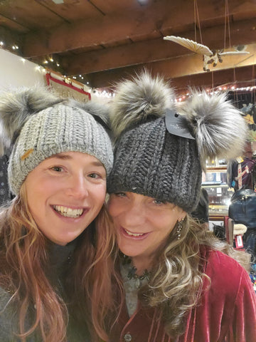 Silly hats at the warren store