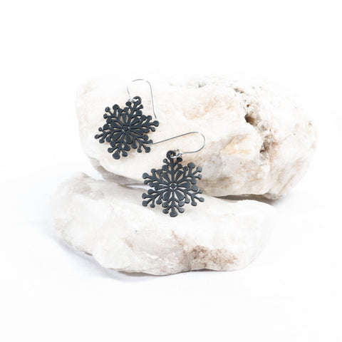 tiny snowflake earring