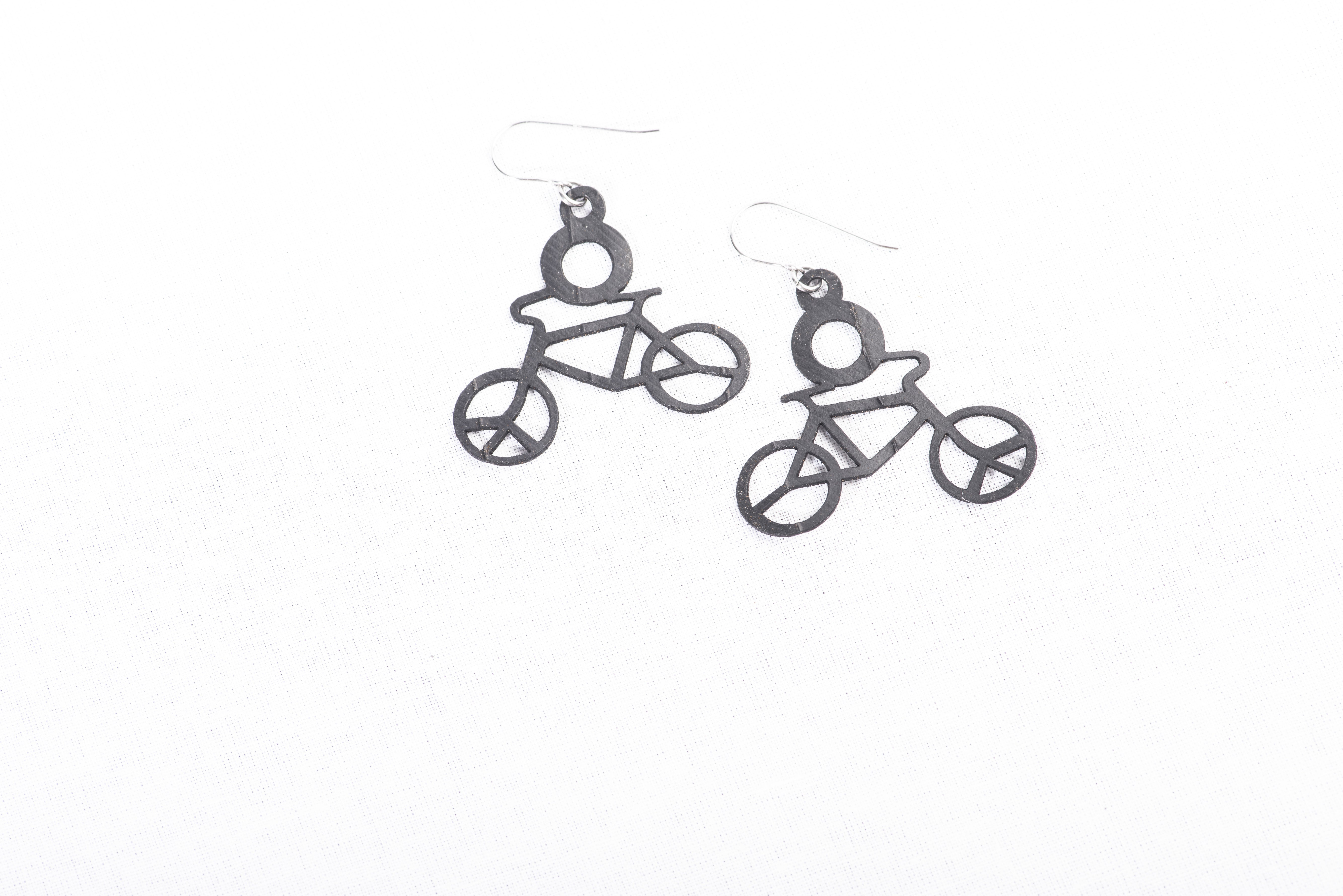 bicycle rubber earring