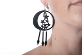 stars in moon earring