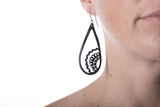 tear drop paisley earring