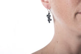 tiny cluster flower earring