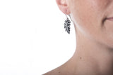 tiny feather earring