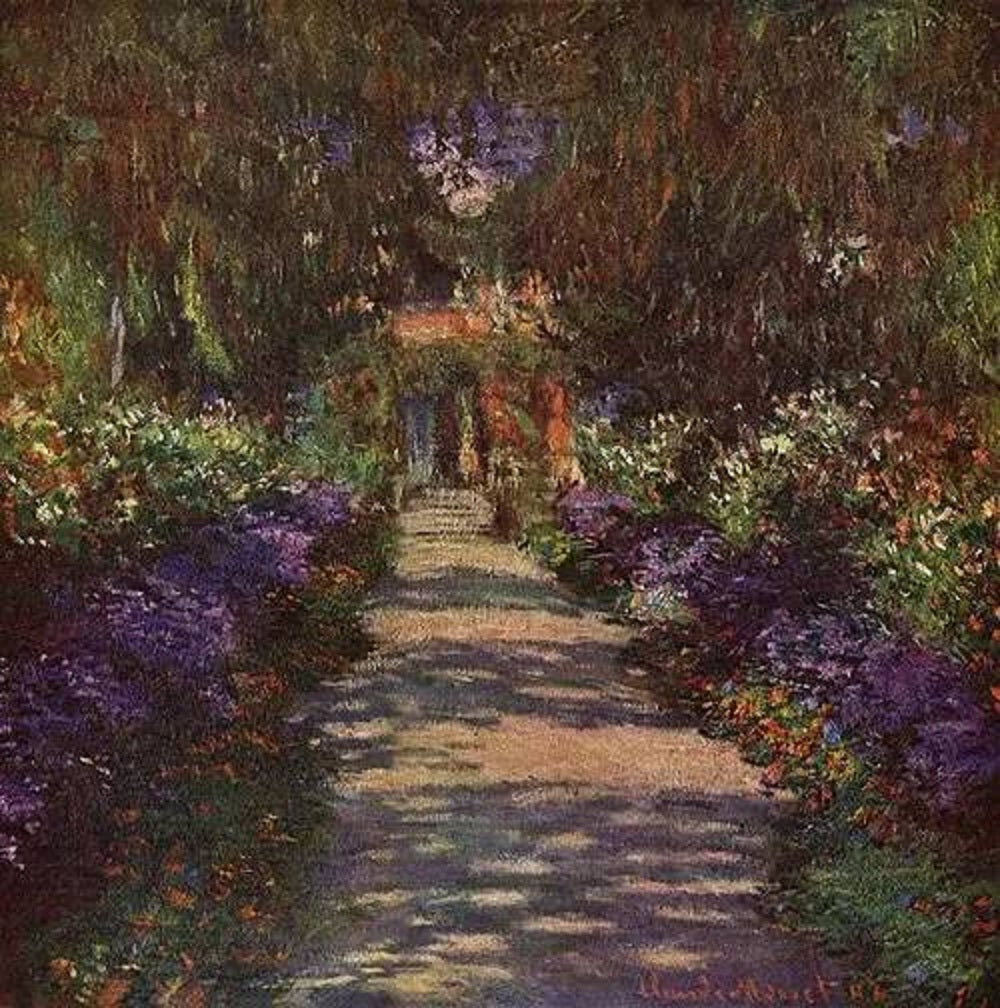 Pathway in Monet\'s Garden at Giverny by Claude Monet - Bosak Art