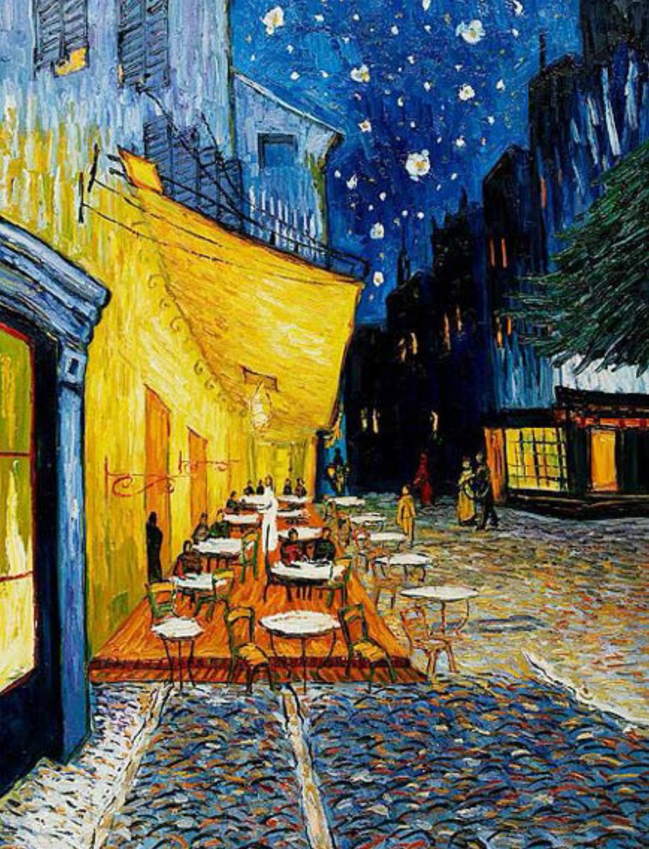 Cafe Terrace At Night By Vincent Van Gogh Bosak Art