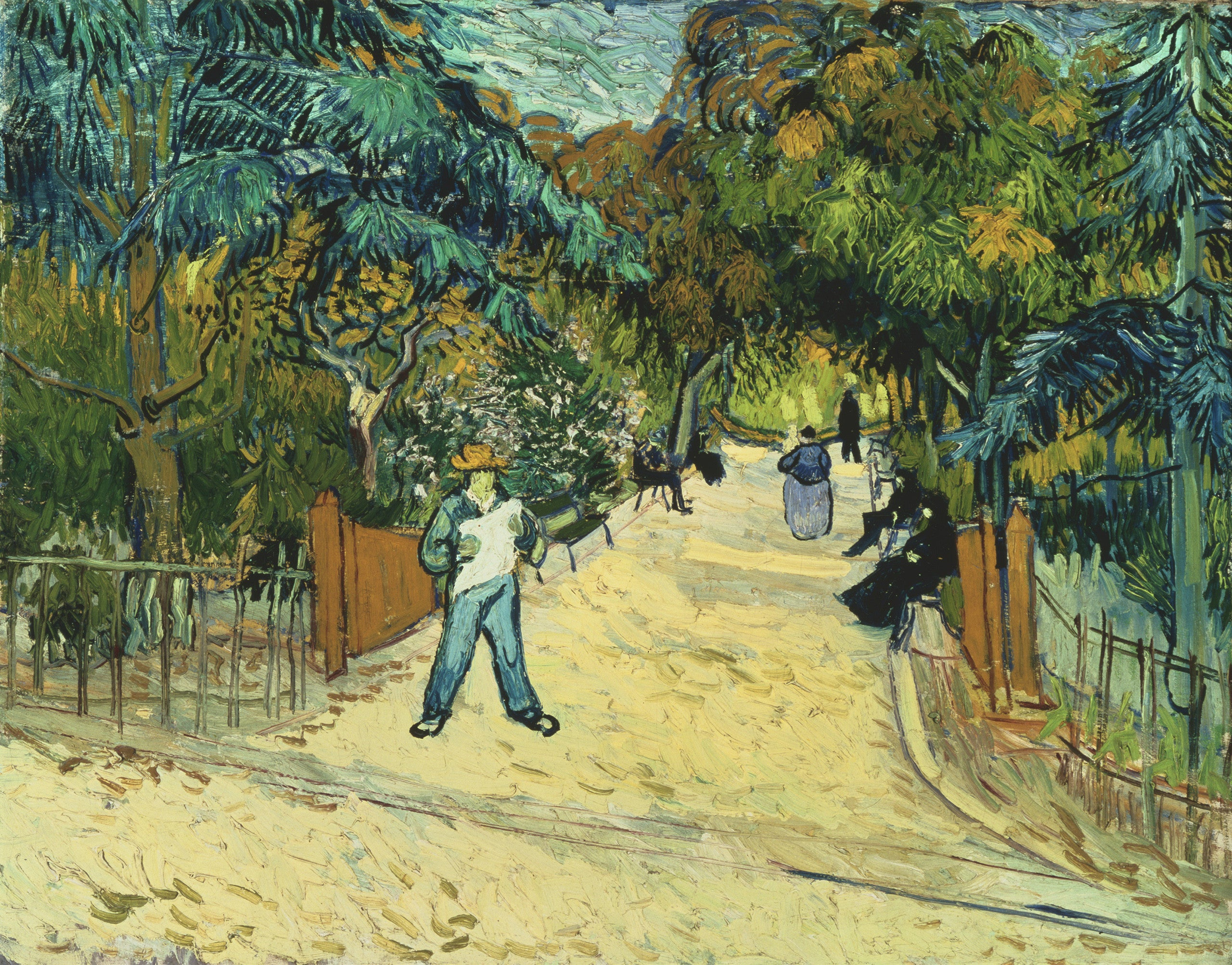 Marvelous Entrance To The Public Garden In Arles By Vincent Van Gogh