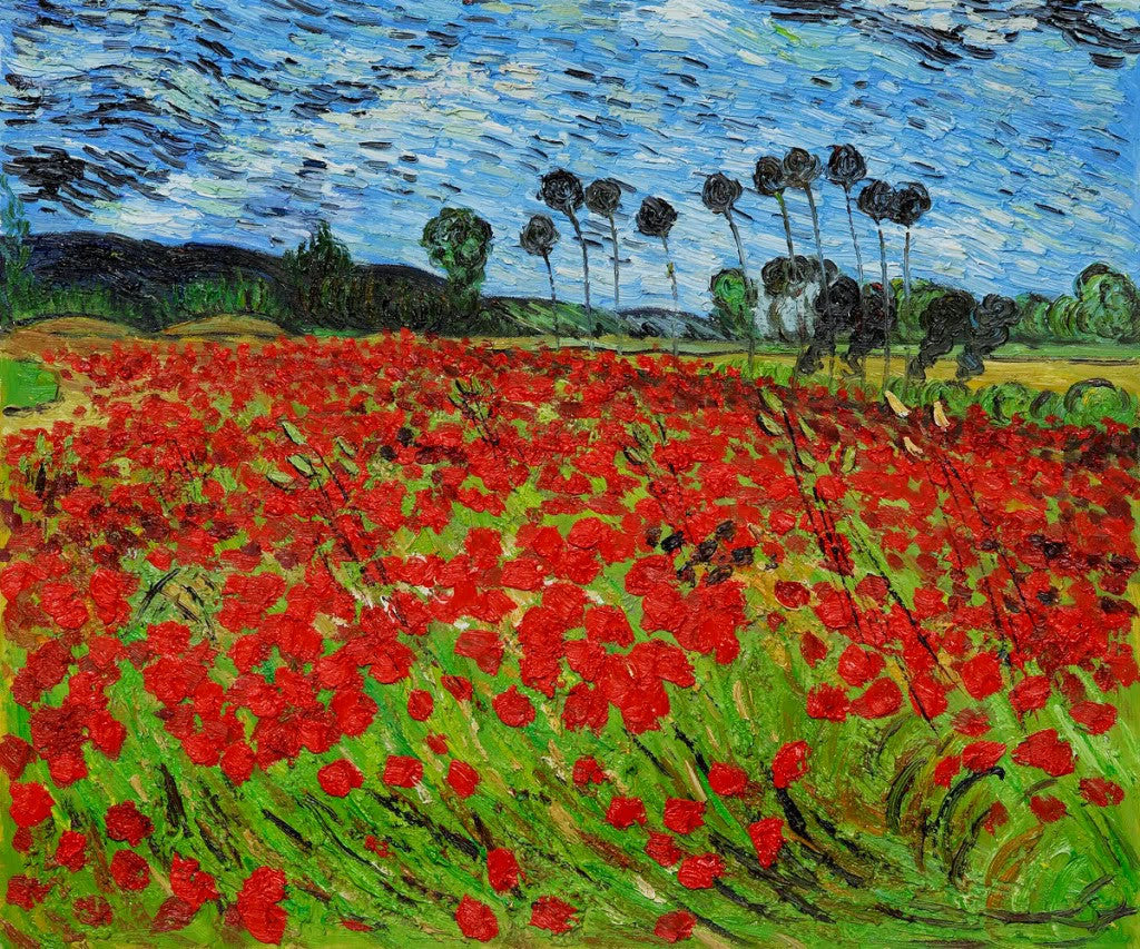 Field With Poppies By Vincent Van Gogh Bosak Art