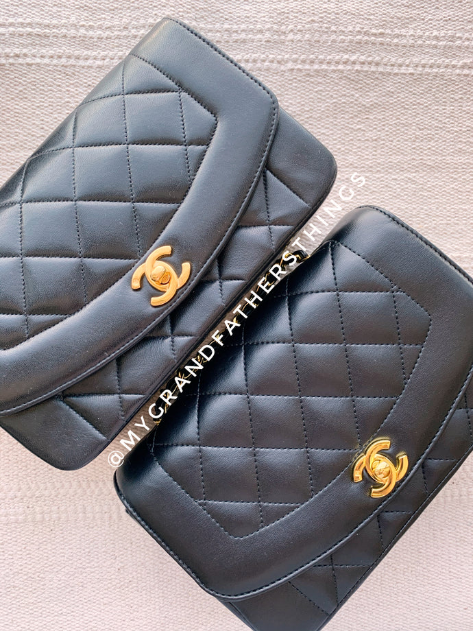 Fake Vintage Chanel Diana vs Real Vintage Chanel Diana