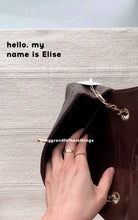 Elise, dark brown single flap bag
