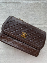Elise, dark brown single flap bag - My Grandfather's Things