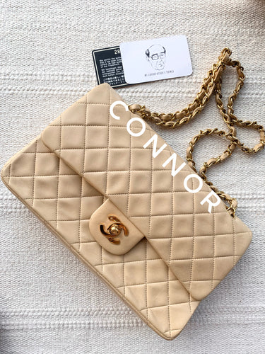 Connor, 2 series dark beige classic flap with card - My Grandfather's Things