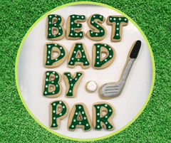 Golfer Dad Father's Day Cookies