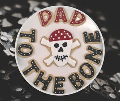 "Funny Father's Day Cookies ""DAD"" to the Bone"