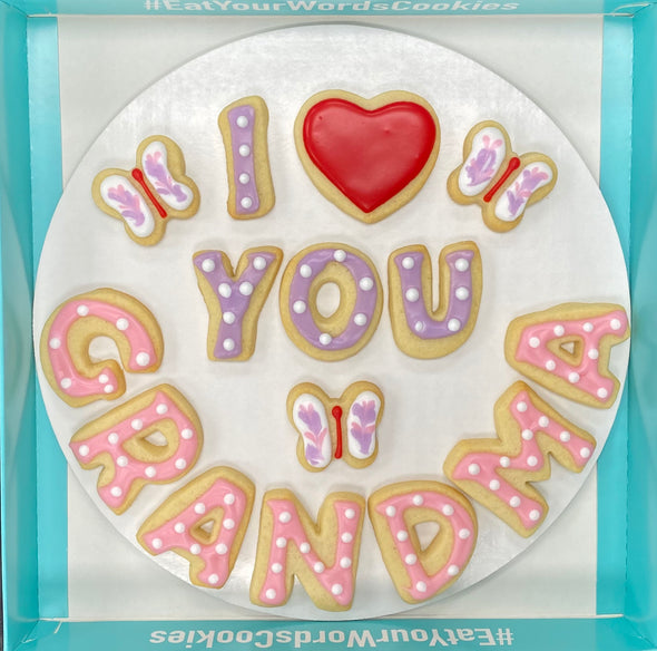 I Love You by Name Cookies