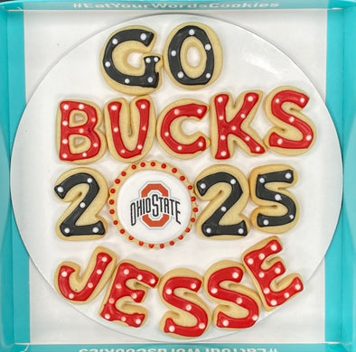 Personalized Go Team College Cookies