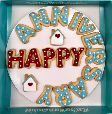 Happy Home Anniversary Cookies