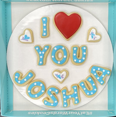 Love You by Name Cookies