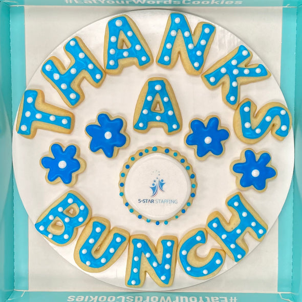 Thanks a Bunch with Logo Cookie