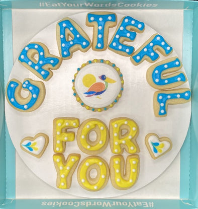 Grateful for You with Company Logo Cookies