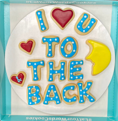I Love You to the Moon & Back Cookies