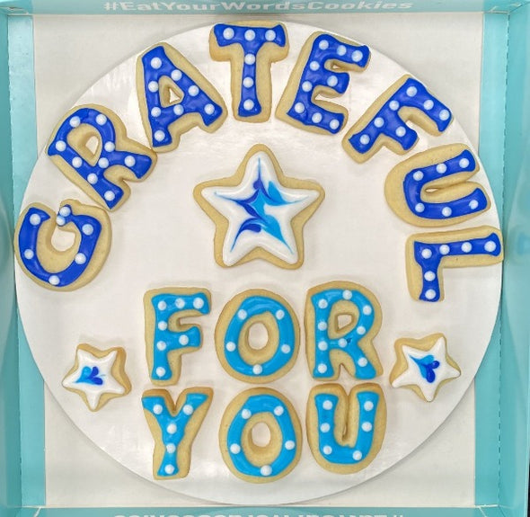 Grateful for You Cookies