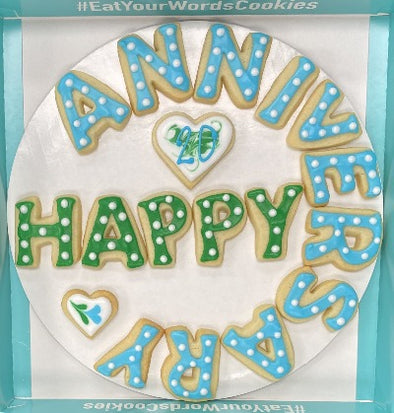 Happy Anniversary Cookies with Year