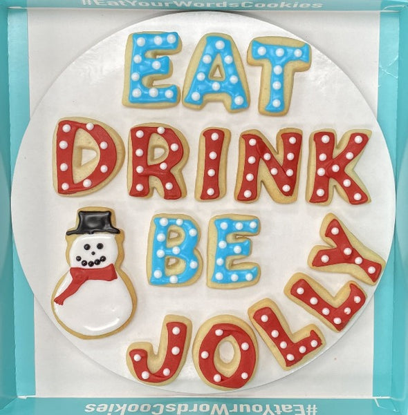 Eat Drink Be Jolly Holiday Cookies