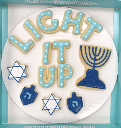 Light It Up Hanukkah Cookies