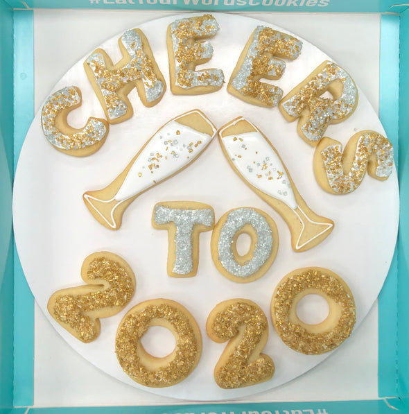 New Design! Cheers to 2020 Cookies
