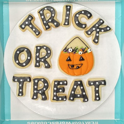Trick Or Treat Halloween Cookies