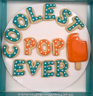 Coolest Pop Ever Father's Day Cookies