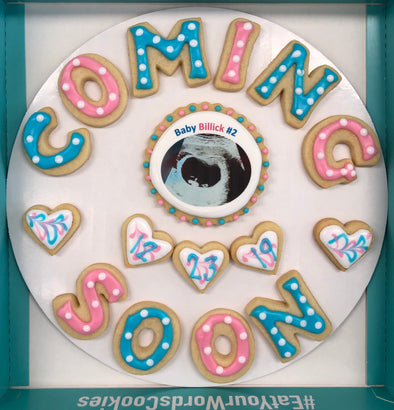 Baby Coming Soon Cookies