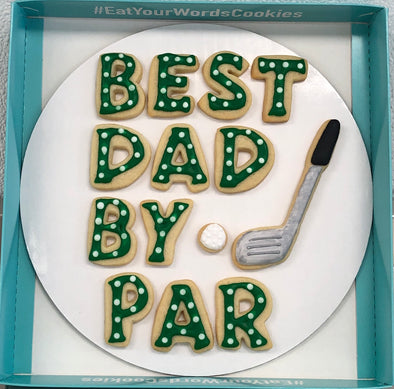 Best Dad by Par Father's Day Cookies