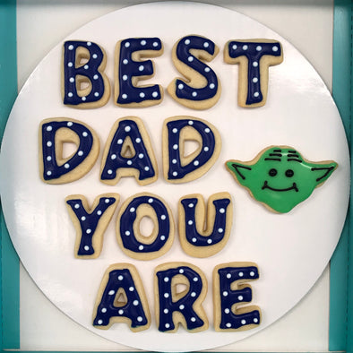 Best Dad You Are Father's Day cookies