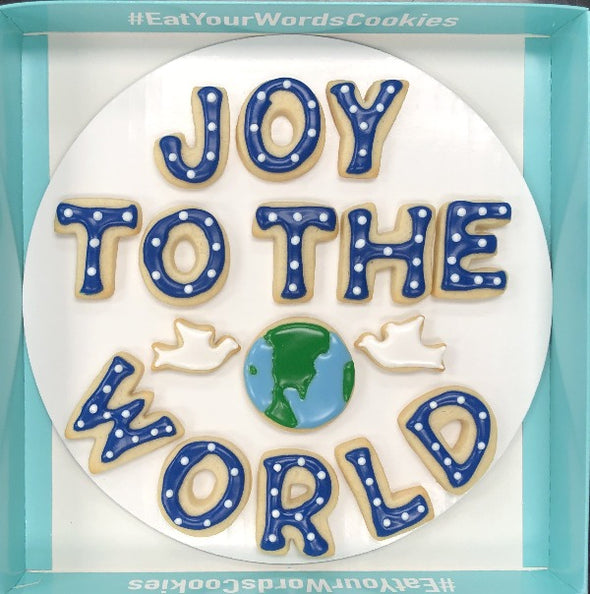 Joy to the World Holiday Cookies