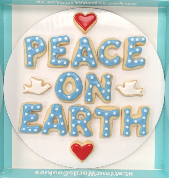 Peace on Earth Holiday Cookies