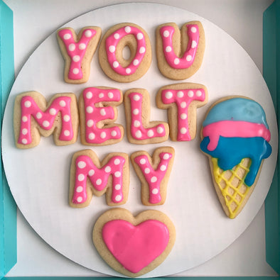 You Melt My Heart Valentine Cookies