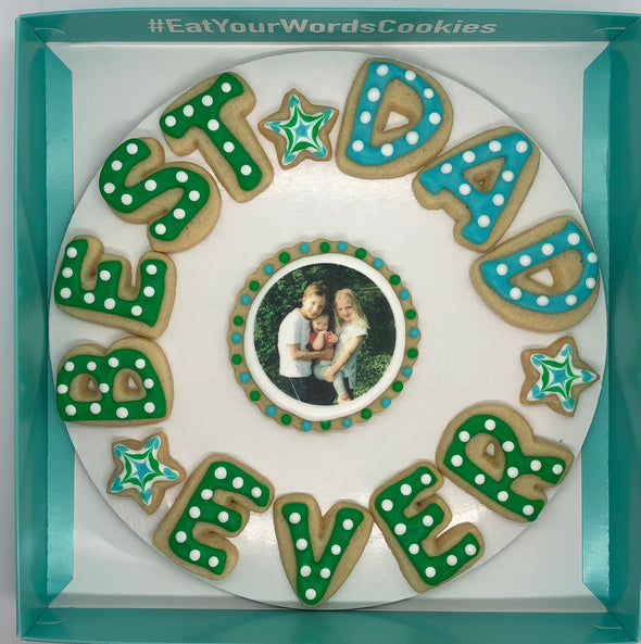 Best Dad Ever with Photo Father's Day Cookies